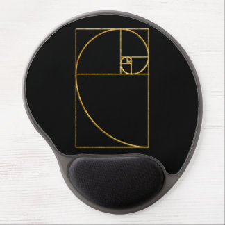 Golden Ratio Sacred Fibonacci Spiral Gel Mouse Mats