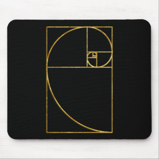 Golden Ratio Sacred Fibonacci Spiral Mouse Pad