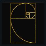 "Golden Ratio Sacred Fibonacci Spiral Photo Print<br><div class=""desc""></div>"