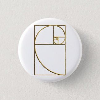 Golden Ratio Sacred Fibonacci Spiral Pinback Button