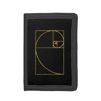 Golden Ratio Sacred Fibonacci Spiral Trifold Wallet