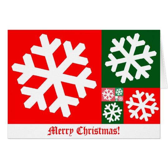Golden Ratio Snowflake Christmas Card