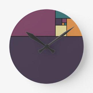 Golden Ratio Squares Clocks