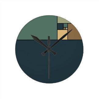 Golden Ratio Squares Wall Clocks