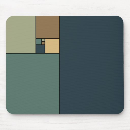Golden Ratio Squares Mouse Pads
