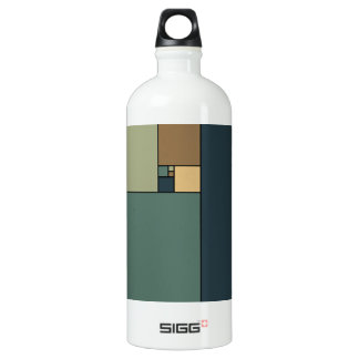 Golden Ratio Squares (Neutrals) Aluminum Water Bottle