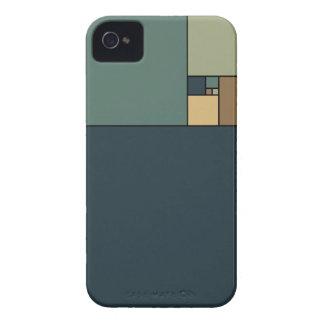 Golden Ratio Squares (Neutrals) iPhone 4 Cover