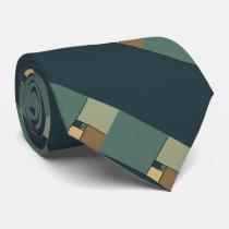 Golden Ratio Squares (Neutrals) Neck Tie
