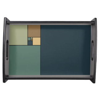 Golden Ratio Squares (neutrals) Serving Tray