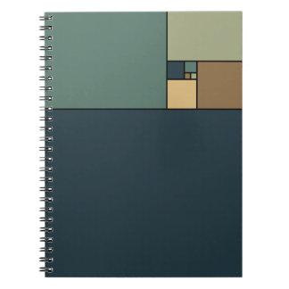 Golden Ratio Squares (Neutrals) Spiral Note Book