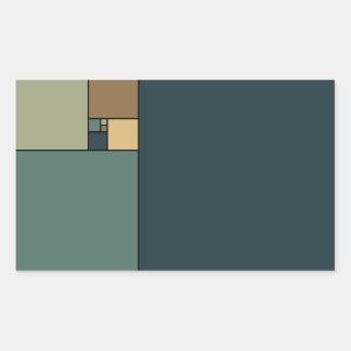 Golden Ratio Squares Rectangular Sticker