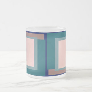 Golden Ratio Teal Blush Blocks Frosted Glass Coffee Mug