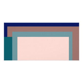 Golden Ratio Teal Blush Blocks Photo Card