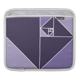 Golden Ratio Triangles (Purple) iPad Sleeve