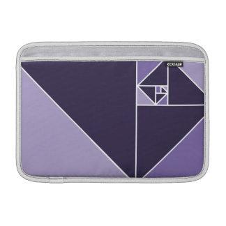 Golden Ratio Triangles (Purple) MacBook Sleeve