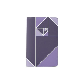 Golden Ratio Triangles (Purple) Pocket Moleskine Notebook Cover With Notebook