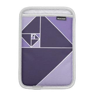 Golden Ratio Triangles (Purple) Sleeve For iPad Mini