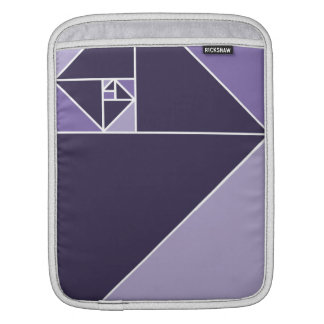 Golden Ratio Triangles (Purple) Sleeve For iPads