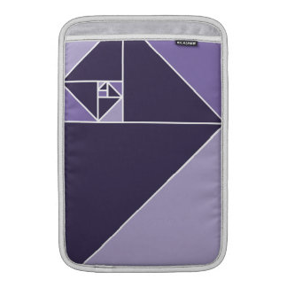 Golden Ratio Triangles (Purple) Sleeve For MacBook Air