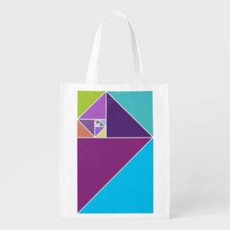 Golden Ratio Triangles Reusable Grocery Bag
