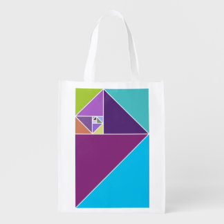 Golden Ratio Triangles Grocery Bag