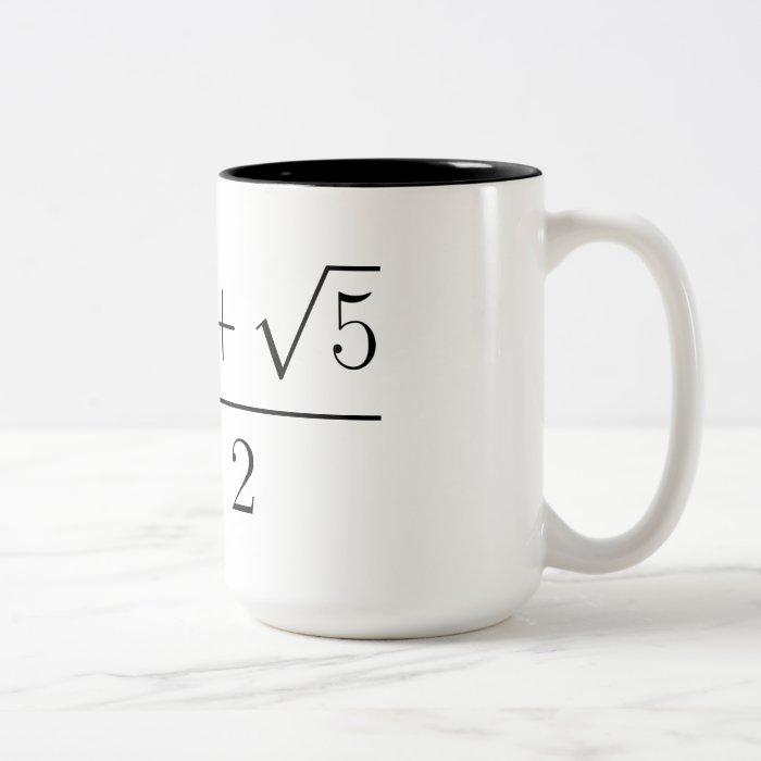 Golden ratio Two-Tone coffee mug