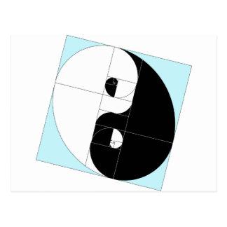 Golden Ratio Yin Yang Postcard