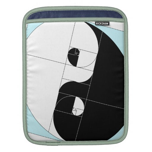 Golden Ratio Yin Yang Sleeves For iPads