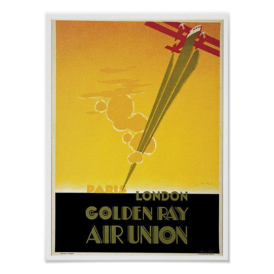 Golden Ray Air Union Poster