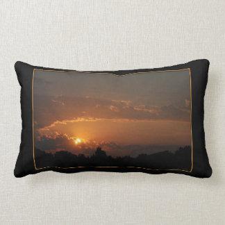 Golden Rays Sunset Lumbar Pillow