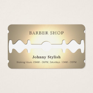 Golden Razor Funny Faux Look Business Card