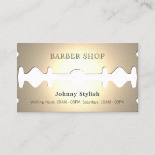 Funny business cards zazzle golden razor funny faux look business card colourmoves