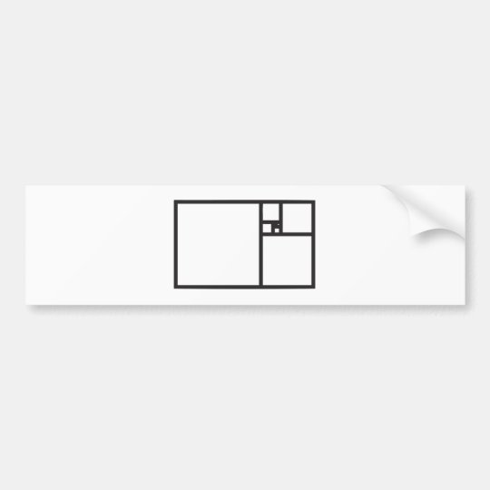 Golden Rectangle Bumper Sticker