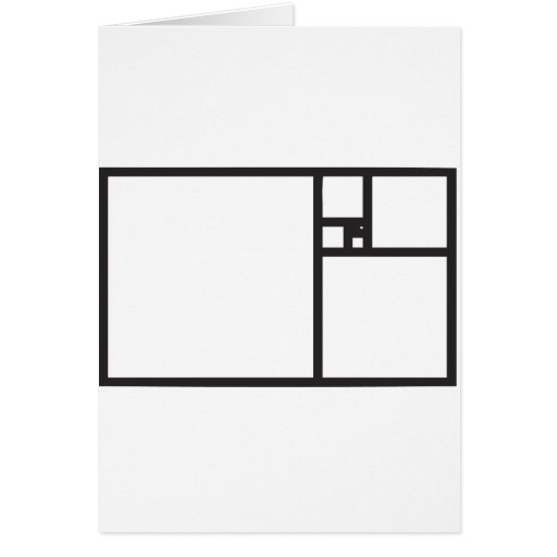 Golden Rectangle Greeting Card