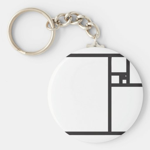 Golden Rectangle Key Chains
