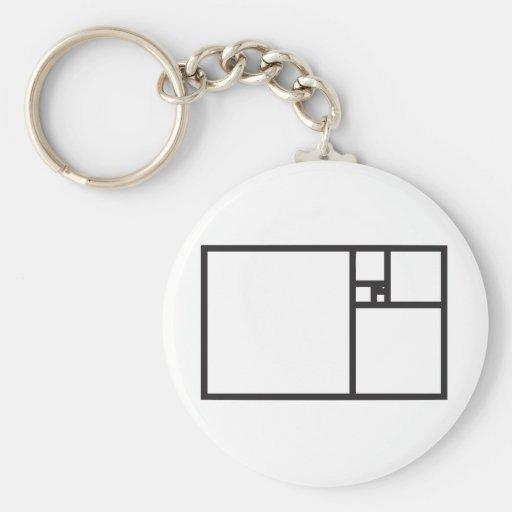 Golden Rectangle Keychain
