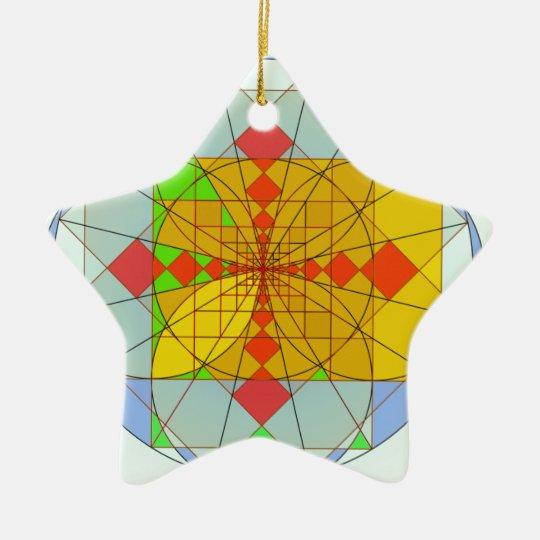 Golden rectangle shapes ceramic ornament