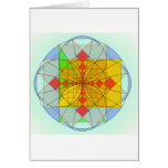 Golden rectangle shapes greeting card