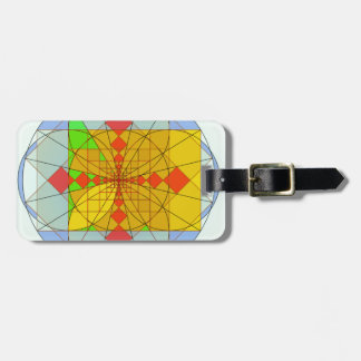 Golden rectangle shapes luggage tags