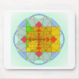 Golden rectangle shapes mouse pad