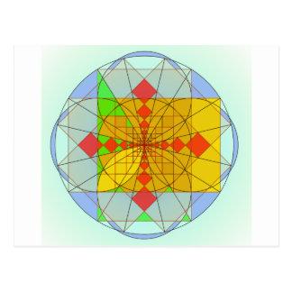 Golden rectangle shapes postcard