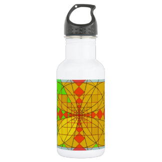 Golden rectangle shapes stainless steel water bottle