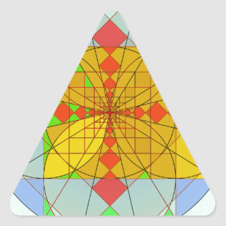 Golden rectangle shapes triangle sticker