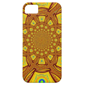 Golden Red African Asian traditional colors iPhone 5 Case