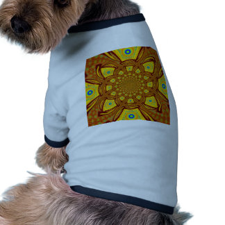 Golden Red African Asian traditional colors Doggie T-shirt