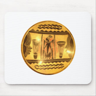 Golden Red African Drummers Mouse Pad