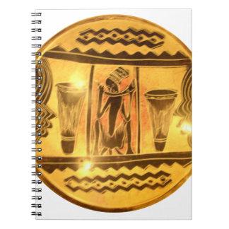 Golden Red African Drummers Notebook