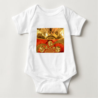 Golden red African traditional art Baby Bodysuit