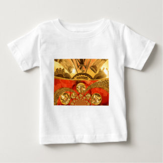 Golden red African traditional art Baby T-Shirt