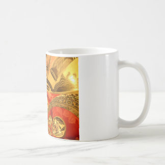 Golden red African traditional art Coffee Mug